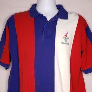 Vintage 1996 Atlanta Olympic Games Mens Polo Shirt